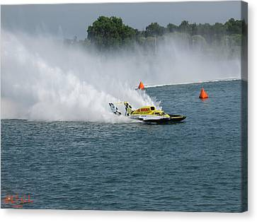 Hydroplane Gold Cup Race Canvas Print by Michael Rucker