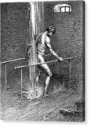 Hydrotherapy, Shower, 1860s Canvas Print by Wellcome Images