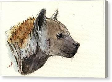 Hyena Head Study Canvas Print