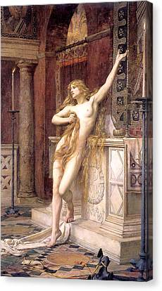 Hypatia  Canvas Print by Charles William Mitchell