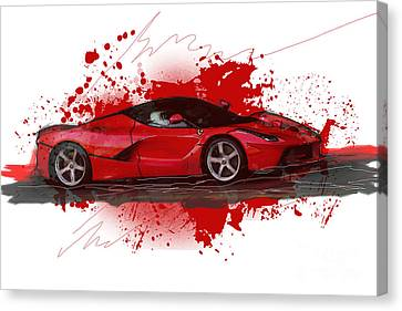 Hyper Car Canvas Print by Roger Lighterness