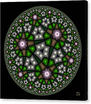Hyperbolic Neural Net Canvas Print