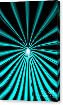 Canvas Print featuring the painting Hyperspace Cyan Portrait by Pet Serrano