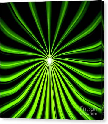 Canvas Print featuring the painting Hyperspace Electric Green Square by Pet Serrano
