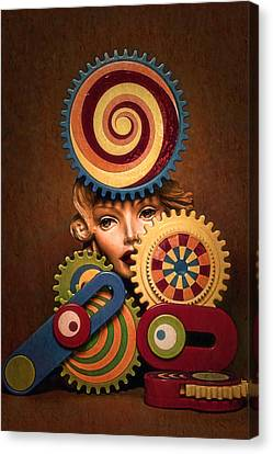 Hypnotic Woman 1 Canvas Print by Jeff  Gettis