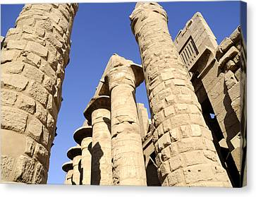 Hypostyle Hall At Karnak Canvas Print by Brenda Kean