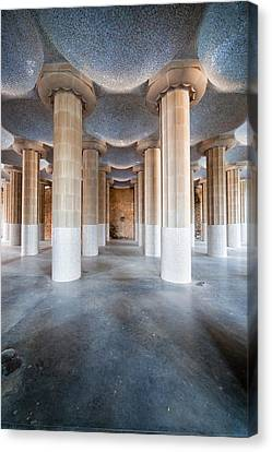 Hypostyle Room In Park Guell Canvas Print