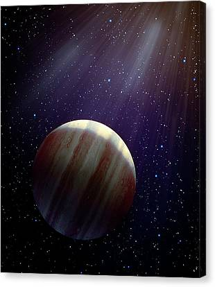 Hypothetical 'ninth Planet X' Canvas Print by Andrzej Wojcicki