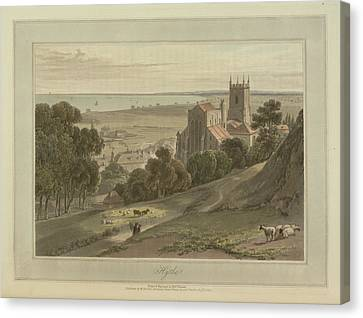 Hythe Coastal Landscape Canvas Print by British Library