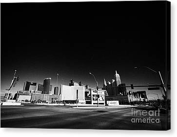 i-15 north and tropicana road junction intersection looking towards Las Vegas Nevada USA Canvas Print