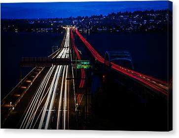 I-90 Light Speed Travelers Canvas Print by Brian Xavier