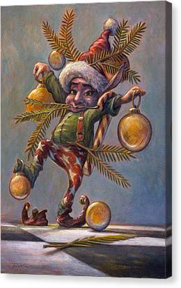 Elves Canvas Print - I Am A Tree by Leonard Filgate