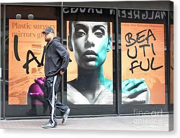I Am Beautiful Canvas Print by Joe Jake Pratt