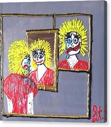 Canvas Print featuring the painting I Am Bipolar 2 by Lisa Piper