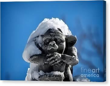 I Am Cold Canvas Print by Alexandra Jordankova