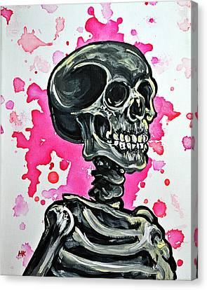 I Am Dead Inside  Canvas Print by Ryno Worm  Tattoos