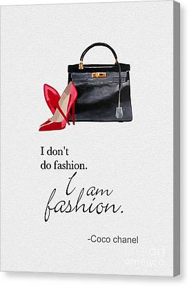 Gift For Canvas Print - I Am Fashion by Rebecca Jenkins