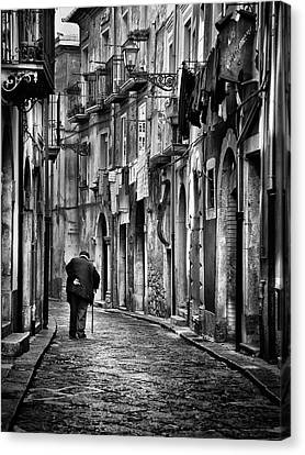 Old Wall Canvas Print - I Am... by Gennaro Parricelli