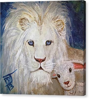 I Am Lambchop Canvas Print by Pamorama Jones