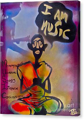 I Am Music #1 Canvas Print by Tony B Conscious