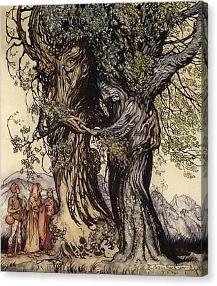 I Am Old Philemon! Murmured The Oak Canvas Print by Arthur Rackham