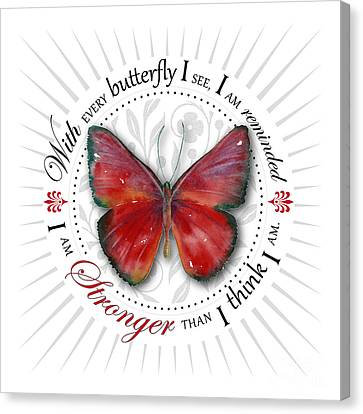 I Am Stronger Than I Think I Am Canvas Print by Amy Kirkpatrick