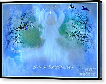 I Am The Angel Of Peace I Am Canvas Print by Sherri's Of Palm Springs