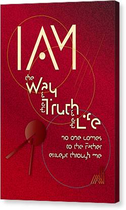I Am The Way Canvas Print by Chuck Mountain