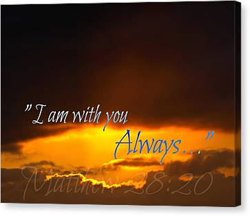 I Am With You Always Canvas Print