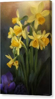 I Believe - Flower Art Canvas Print by Jordan Blackstone
