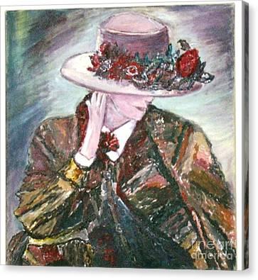 I Borrowed My Mother's Hat Canvas Print by Helena Bebirian