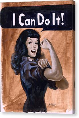 I  Can Do It Canvas Print by Luis  Navarro