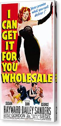 I Can Get It For You Wholesale, Top Canvas Print by Everett