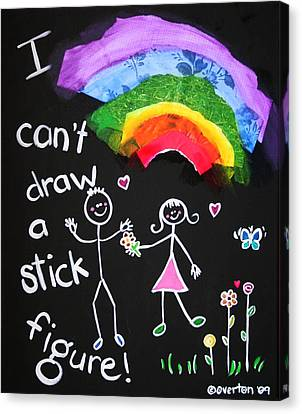 I Can't Draw A Stick Figure Canvas Print by Shelley Overton
