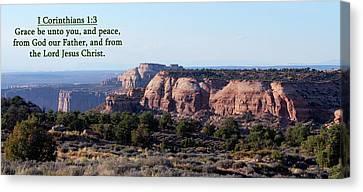 I Corinthians 1-3 Canyonlands N P  Canvas Print