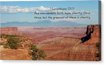 I Corinthians 13-13 Canyonlands N P Canvas Print