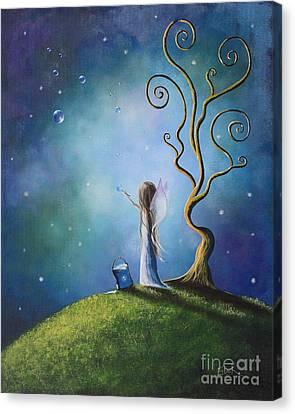 Midsummer Canvas Print - Original Fairy Art Print By Shawna Erback by Shawna Erback