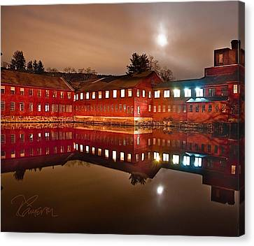 Canvas Print featuring the photograph I Don't Hear The Machines Anymore by Tom Cameron