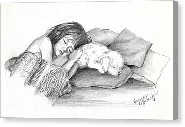 I Dont Need A Nap Mom Canvas Print by Suzanne Schaefer