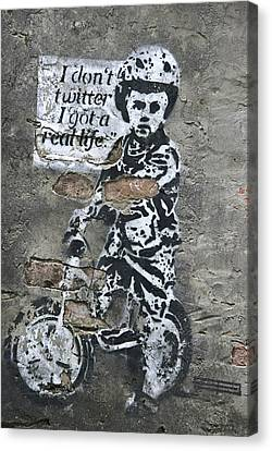 I Don't Twitter . . . Canvas Print by Joachim G Pinkawa