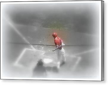 I Dream Of Baseball Canvas Print by Kathy Barney
