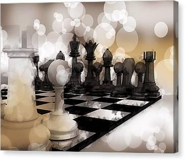 I Dream Of Chess ... Canvas Print by Daniel Hagerman