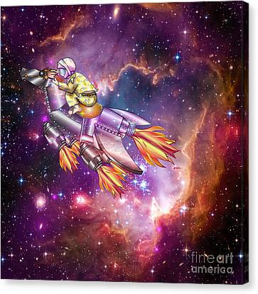 Canvas Print featuring the digital art I Dream Of Rockethorse by Laura Brightwood