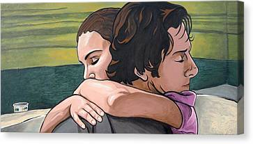 Canvas Print featuring the painting I Feel Like I'm Home  by Sarah Crumpler