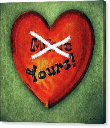 I Gave You My Heart Canvas Print by Jeff Kolker