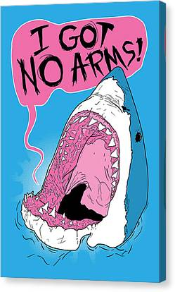 Fish Canvas Print - I Got No Arms by Mike Lopez