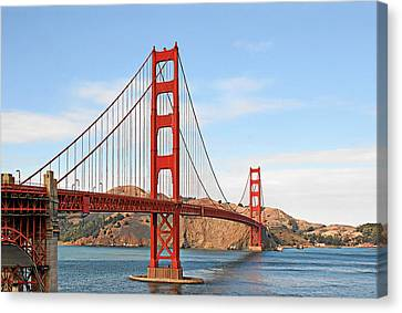 I Guard The California Shore - Golden Gate Bridge San Francisco Ca Canvas Print by Christine Till