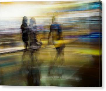 Canvas Print featuring the photograph I Had A Dream That You And Your Friends Were There by Alex Lapidus