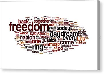 I Have A Dream By Martin Luther King Canvas Print by Florian Rodarte