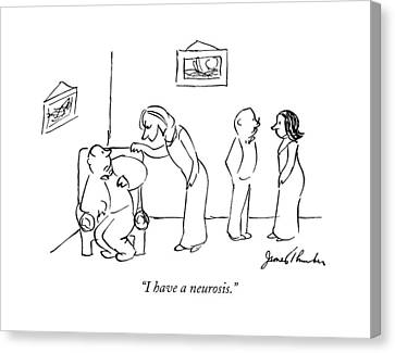 1941 Canvas Print - I Have A Neurosis by James Thurber